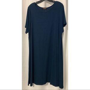 Renee C. Striped T-Shirt Dress Sized 3X Stitch Fix